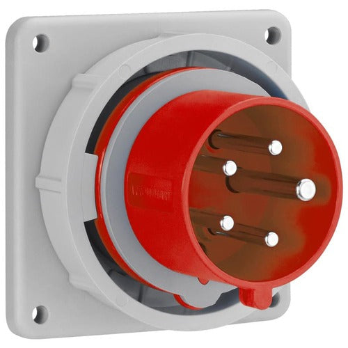 Arrow Hart Inlet Pin&Slv 20A277/480V 3PH 4P5W White  Red