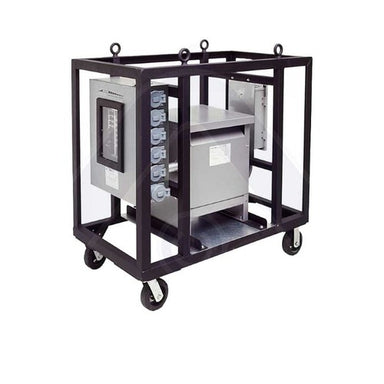Construction Electrical Products 45KVA 480V to 120/208V 3 Phase Dry Type Transformer,4 Wheels
