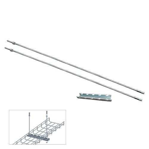 "Quest Manufacturing Ceiling Hanging Bar Kits for 6"" wire cable tray"