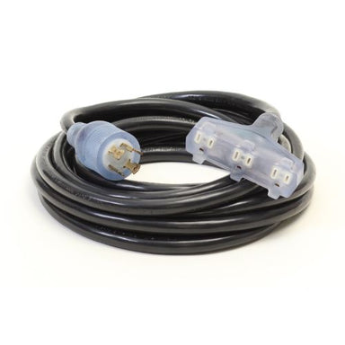Century Wire And Cable SJTW Black Generator Cord Lited Tri Tap