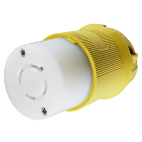 Hubbell 125 VAC Yellow Marine grade Locking Device