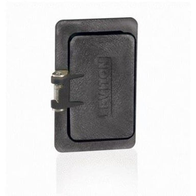 Leviton Manufacturing Company Outlet Box, Flip Lid, Single Decora-Black