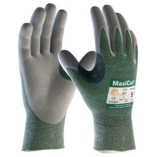 Protective Industrial Products MaxiCut Nitrile Coated Palm with Foam Grip, - Medium