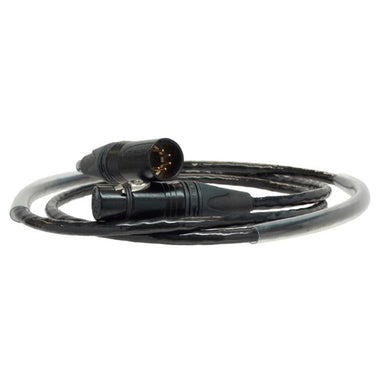 DMX, 5 Pin XLR Neutrik Connector, Entertainment Cable - Black
