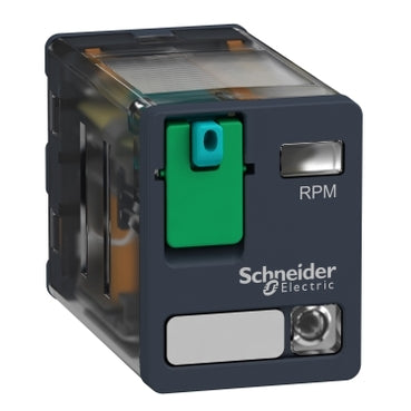 Schneider Electric RPM22BD Zelio RPM Power Plug-In Relay, 2 C/O, 24 V DC, 15 A, w/LED