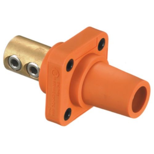 Hubbell Wiring Device-Kellems Series 16 Single Pole 400Amp DSS Receptacle, Female - Orange Wire Connectors
