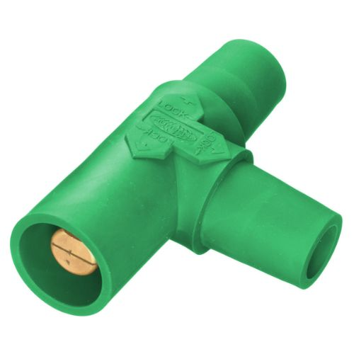 Hubbell Wiring Device-Kellems HBLTGN Series 16 Tapping Tee (Female-Female-Male) - Green