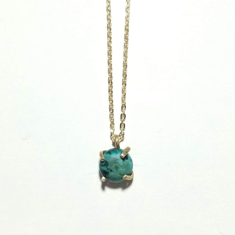 African Turquoise Drop Necklace
