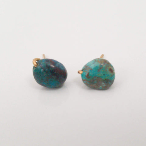 Chrysocolla Pebble Charming Studs
