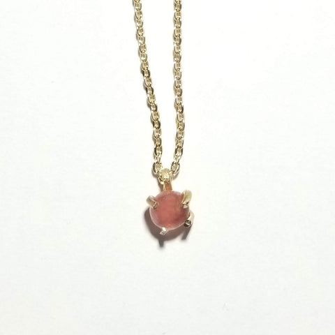 Cherry Quartz Drop Necklace