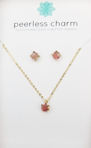 Cherry Quartz Gift Set