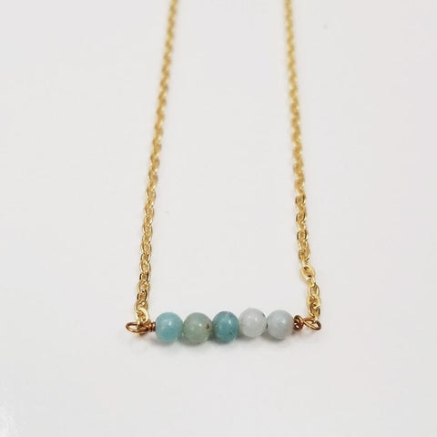 Amazonite Dainty Bead Necklace