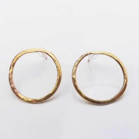 Dainty Geometric Earrings -Circle
