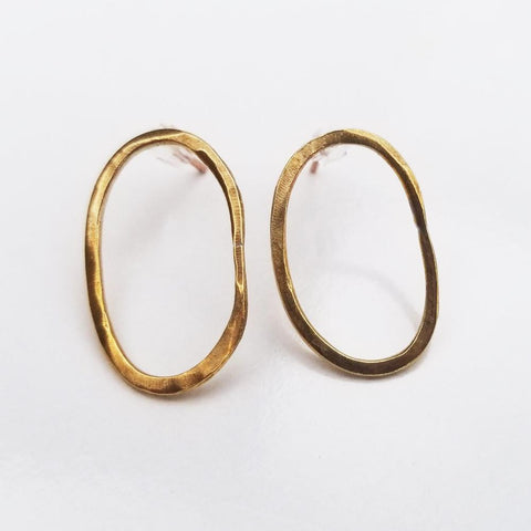 Dainty Geometric Earrings -Oval
