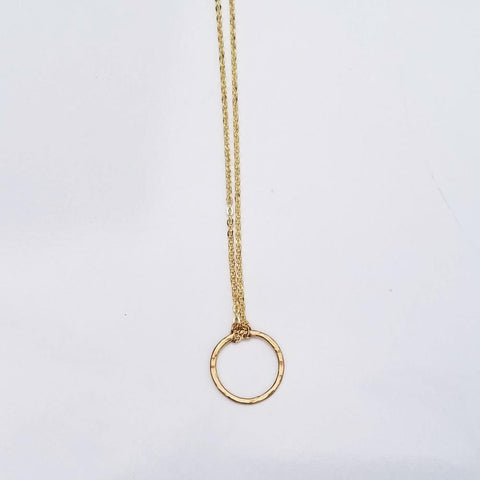 Dainty Geometric Necklace -Circle