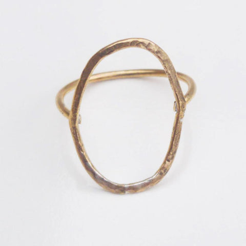 Geometric Ring -Oval