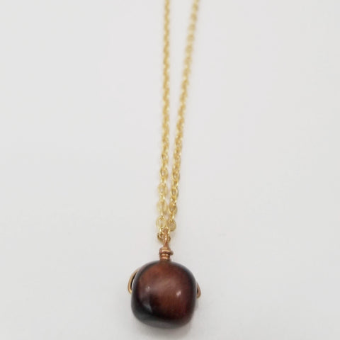 Tiger's Eye Drop Necklace