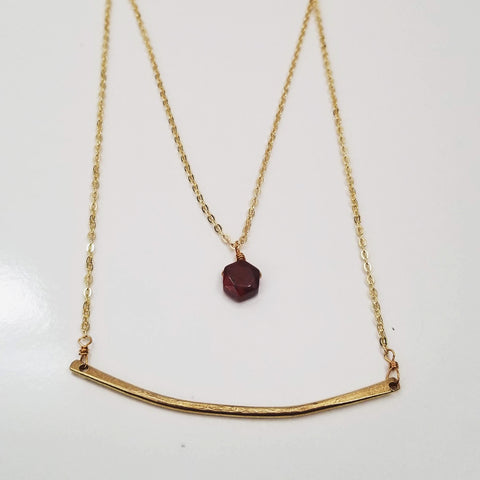 The Layered Bar Necklace