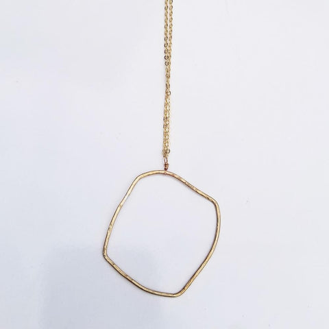 Geometric Necklace -Organic Square