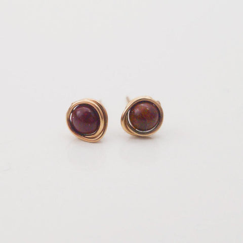 Apple Jasper Mini Studs