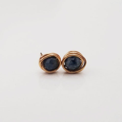 Dumortierite Mini Studs