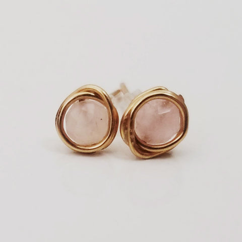 Rose Quartz Mini Studs