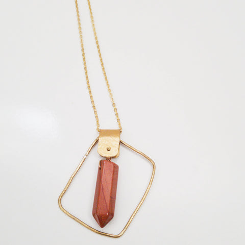 Organic Square Rivet Necklace