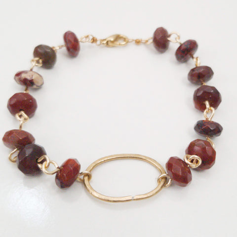 Apple Jasper Oval Bracelet