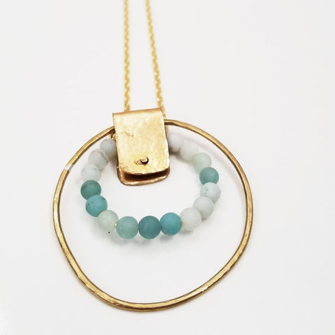 Amazonite Rivet Necklace
