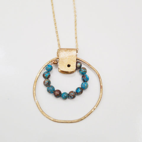 Chrysocolla Rivet Necklace