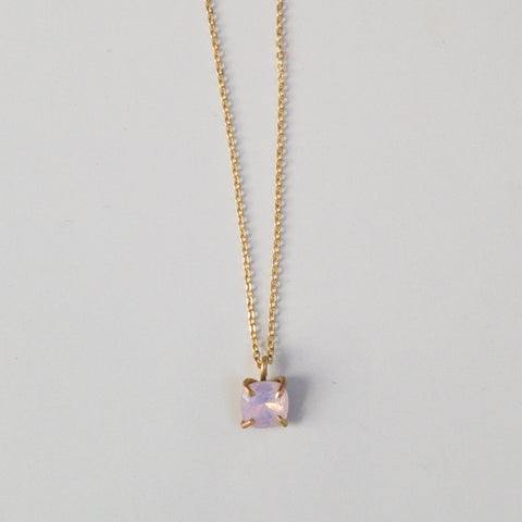 Rose Prong Set Drop Necklace