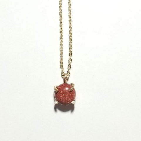 Goldstone Drop Necklace