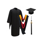 Master's Degree Cap, Gown, Tassel & Hood Packages