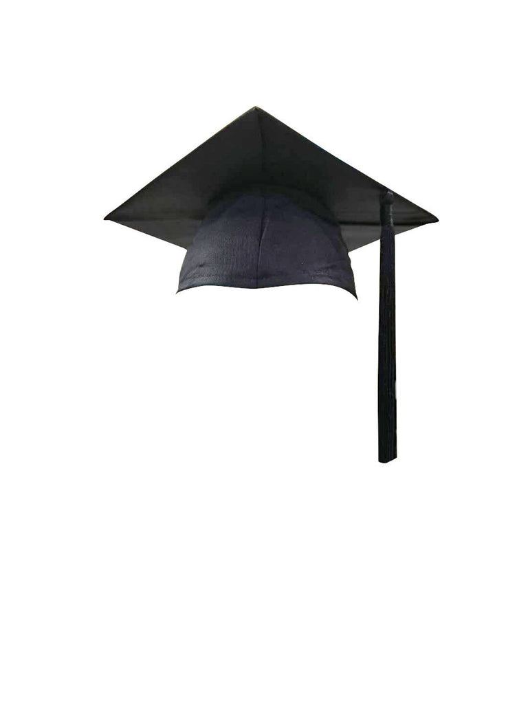 Black Bachelors Graduation Cap & Tassel - Graduation UK