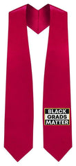 Red BLACK GRADS MATTER Graduation Stole