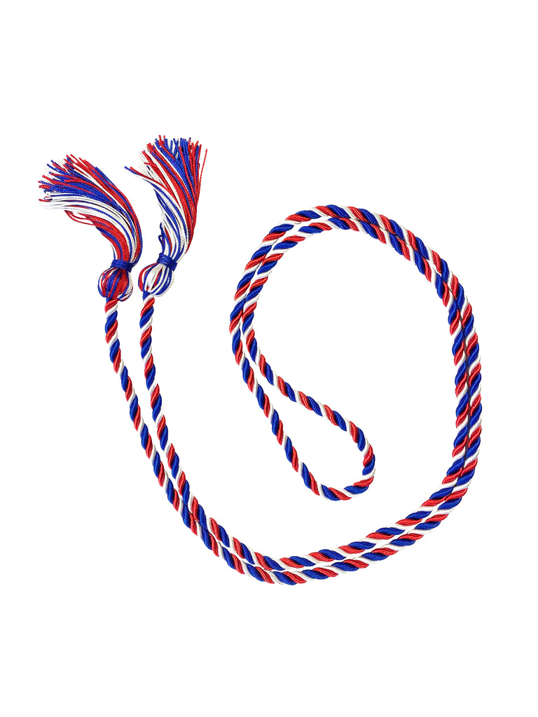 Three Color Braided Graduation Honor Cord - College & High School Honor Cords