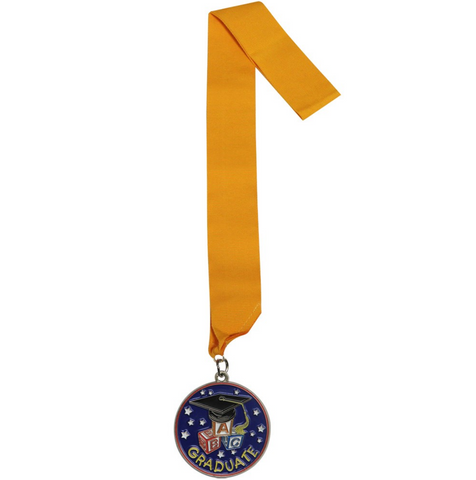 Childs Graduation Medal - Preschool & Kindergarten
