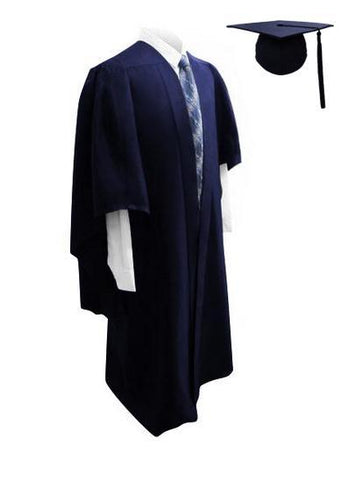 Deluxe Navy Bachelors Graduation Cap & Gown - Graduation UK