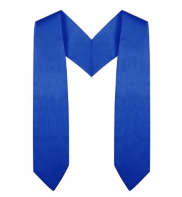 Royal Blue Preschool / Kindergarten Graduation Stole - Graduation Cap and Gown