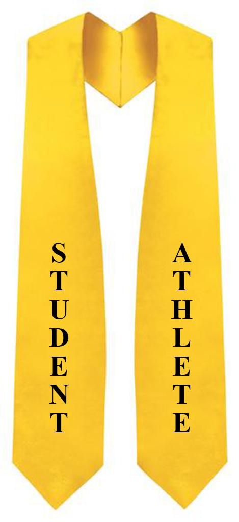 "Gold ""Student Athlete""  Graduation Stole"
