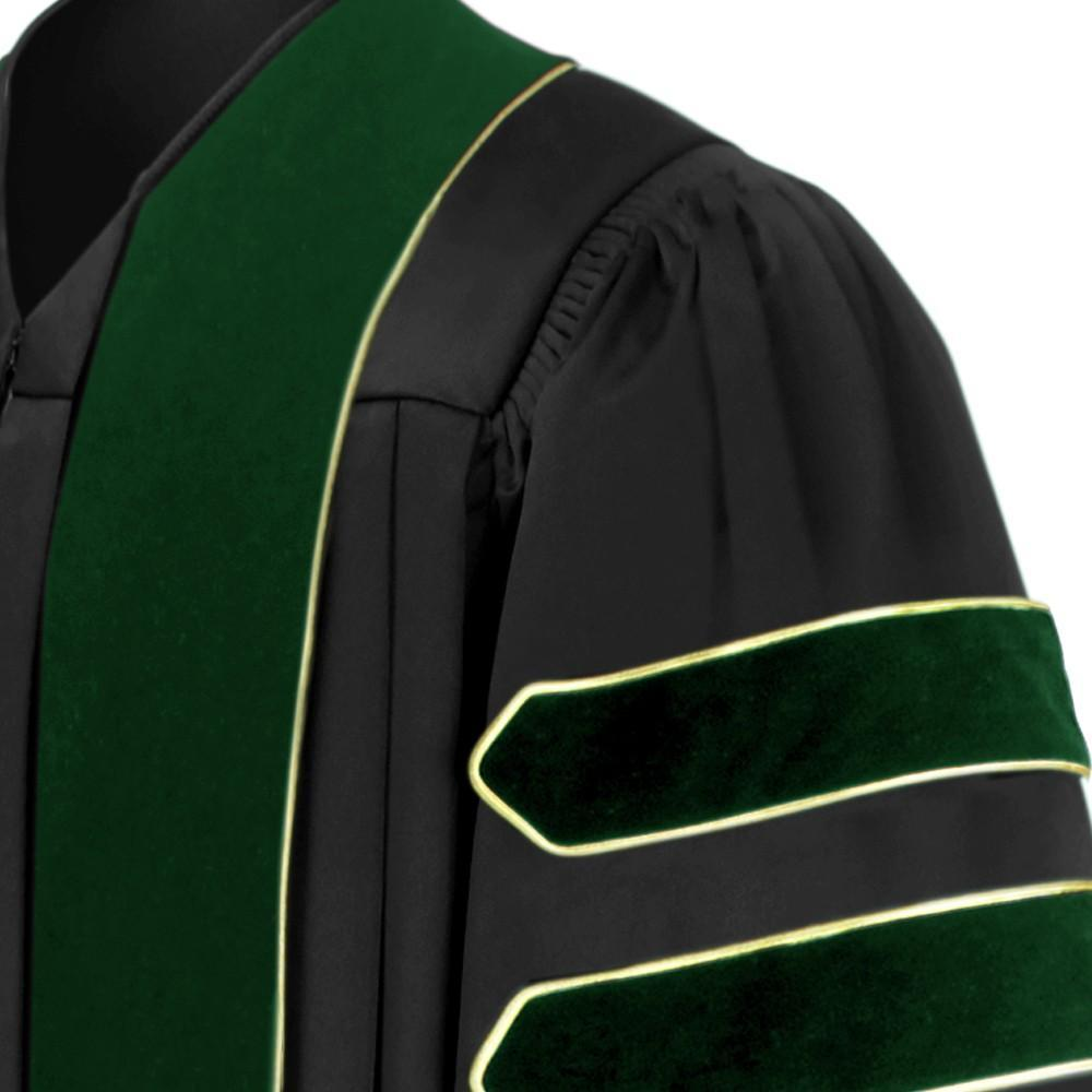 Doctor of Medicine Doctoral Gown - Academic Regalia - Graduation Cap and Gown