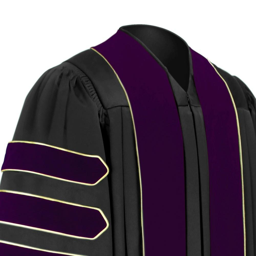 Doctor of Law Doctoral Gown - Academic Regalia - Graduation Cap and Gown