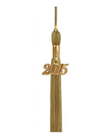 Antique Gold Graduation Tassel - College & High School Tassels - Graduation Cap and Gown