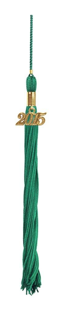 Emerald Green Graduation Tassel - College & High School Tassels - Graduation Cap and Gown
