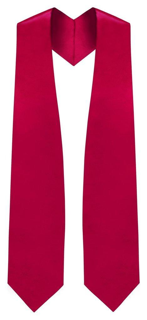 Red Graduation Stole - Red College & High School Stoles