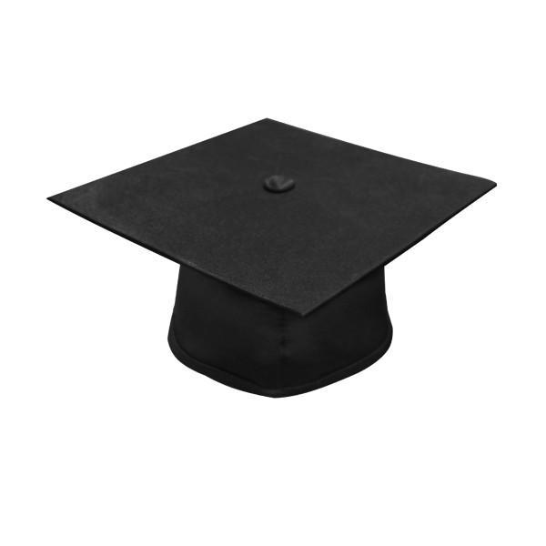 Deluxe Black High School Graduation Cap & Gown - Fluted Cap & Gown - Graduation Cap and Gown