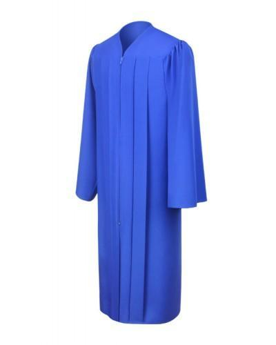 Matte Royal Blue Bachelors Graduation Gown - College & University - Graduation Cap and Gown