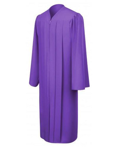 Matte Purple Bachelors Graduation Gown - College & University - Graduation Cap and Gown