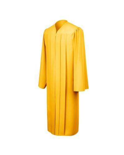 Matte Gold Bachelors Graduation Gown - College & University - Graduation Cap and Gown