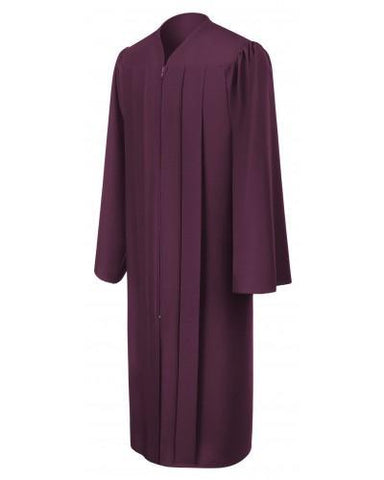 Matte Maroon Bachelors Graduation Gown - College & University - Graduation Cap and Gown